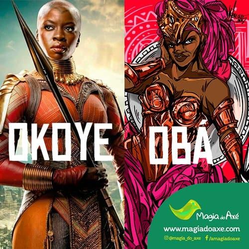 Obá e Okoye: comparação entre a Orixá e personagem de Pantera Negra 3