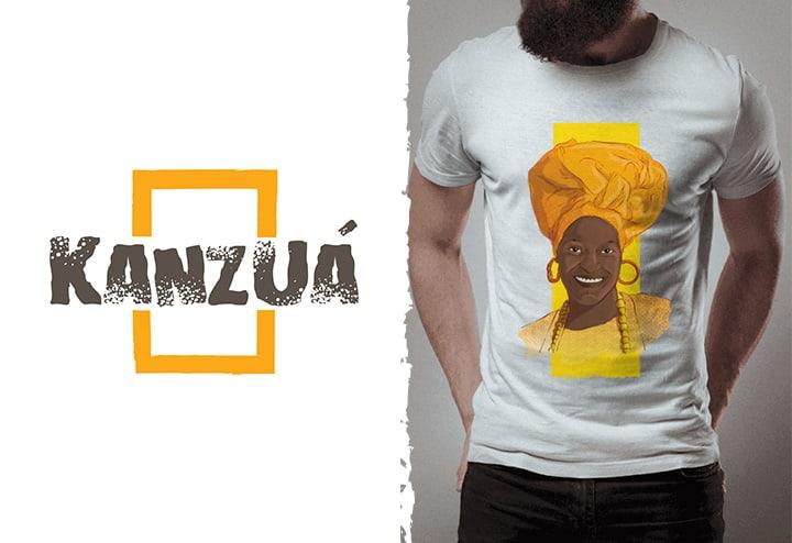 Kanzuá - Vista a camisa da Umbanda 1