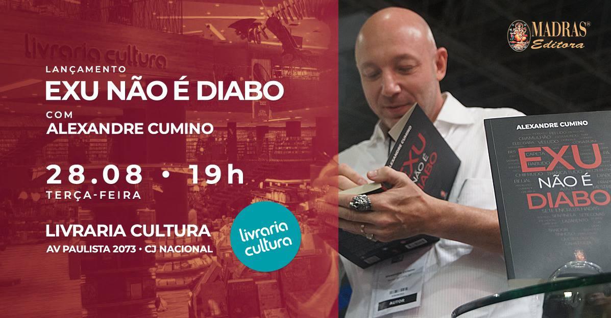 Exu não é Diabo: palestra e autógrafos na Paulista 2