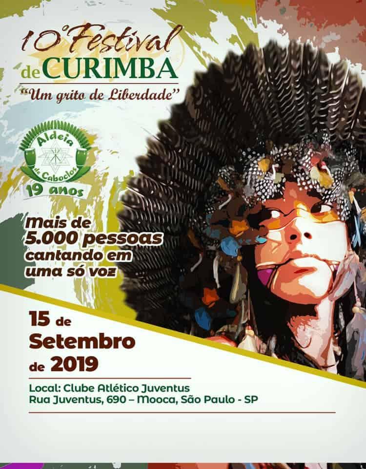 Festival de Curimba Aldeia de Caboclos será neste domingo 1