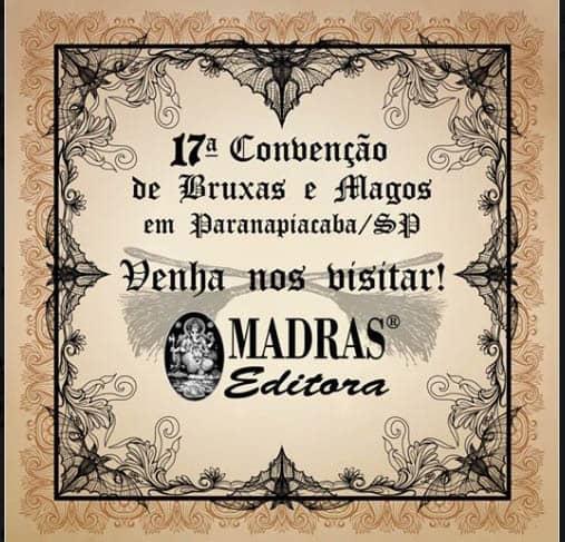 Madras Editora estará na 17ª Convenção de Bruxas e Magos 1