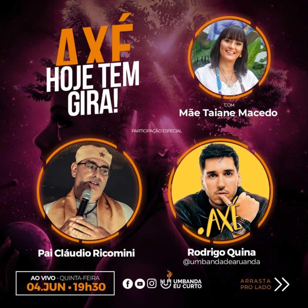 HOJE TEM GIRA recebe Cláudio Ricomini e o músico Rodrigo Quina 4