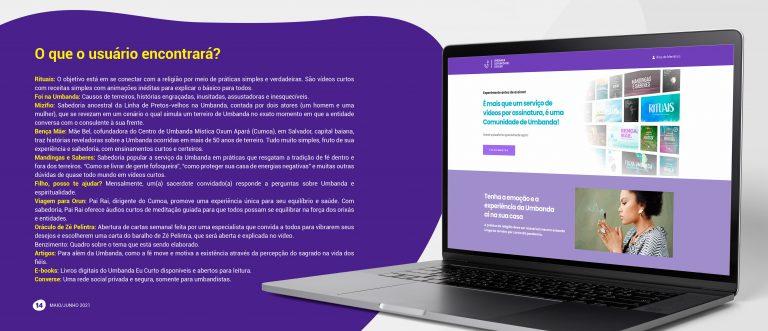 Umbanda Comunidade: plataforma online oferece interatividade 2